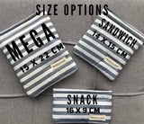 Grey Stripe Reusable Bag