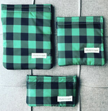 Green Plaid Reusable Bag