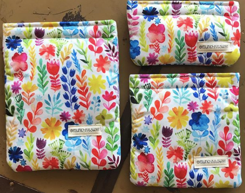 Watercolour Flowers Reusable Bag