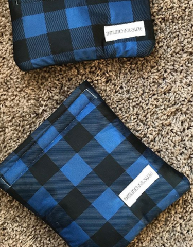 Blue Plaid Reusable Bag
