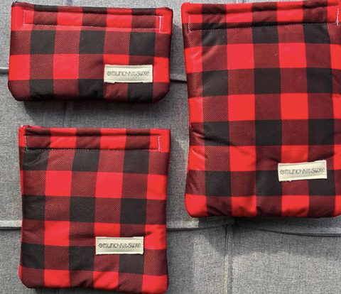 Red Plaid Reusable Bag