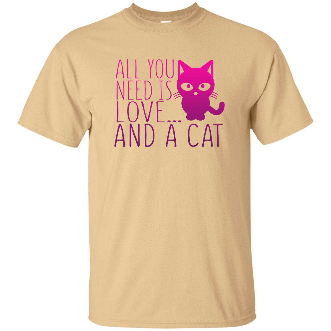 ALL YOU NEED IS LOVE AND A CAT 😻 T-SHIRT