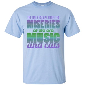 MUSIC AND CATS 😻 T-SHIRT