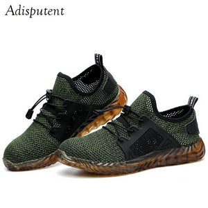 Adisputent Dropshipping Men And Women Steel Toe Air Safety Boots Indestructible Ryder Shoes light Work Sneakers Breathable Shoes