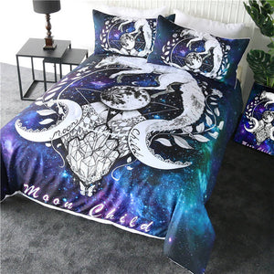 CELESTIAL MOON CHILD - Adult Bedding Set