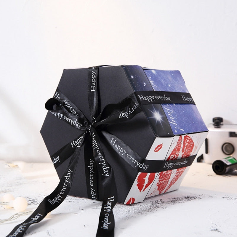 DIY Explosion Valentine's Day Gift Photo Box