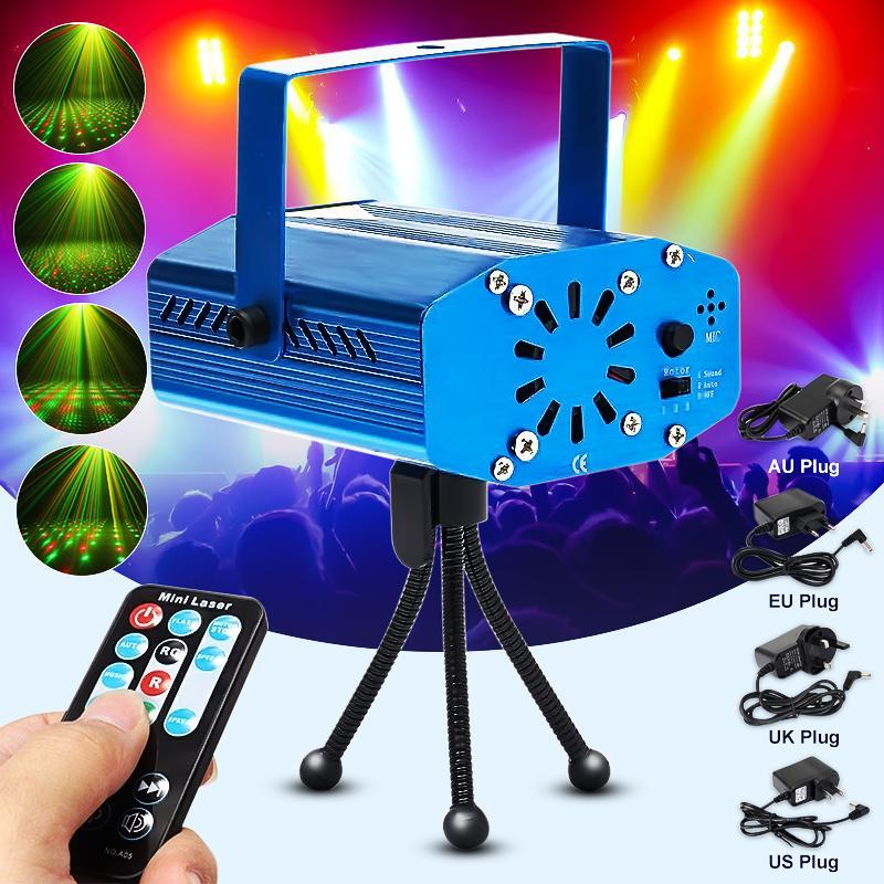 RGB LED Stage Light With Auto Sound/Music Remote Function For DJ Disco Dancing Laser Projector Stage Lighting Effect Party Light