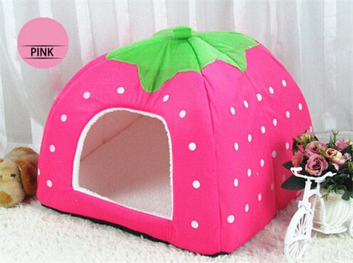 Cute Foldable Cat Kitten House-pawproducts.net-Pink-S-pawproducts.net