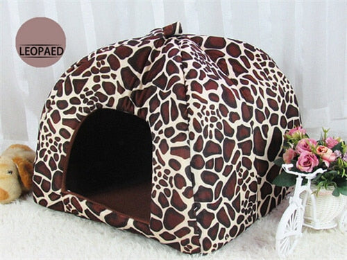 Cute Foldable Cat Kitten House-pawproducts.net-Leoprad-S-pawproducts.net