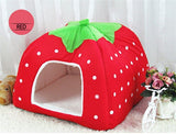 Cute Foldable Cat Kitten House-pawproducts.net-Red-S-pawproducts.net