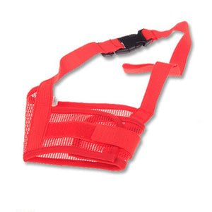 Adjustable Mask Bark Bite Mesh-pawproducts.net-Red-S-pawproducts.net