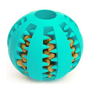 PeExtra-tough Rubber Ball Toy-pawproducts.net-Blue-M-pawproducts.net
