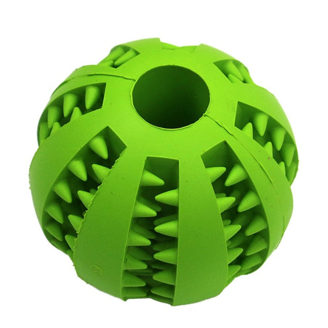 PeExtra-tough Rubber Ball Toy-pawproducts.net-Green-M-pawproducts.net