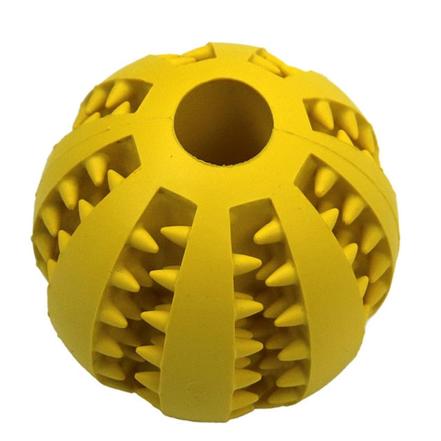 PeExtra-tough Rubber Ball Toy-pawproducts.net-YELLOW-M-pawproducts.net
