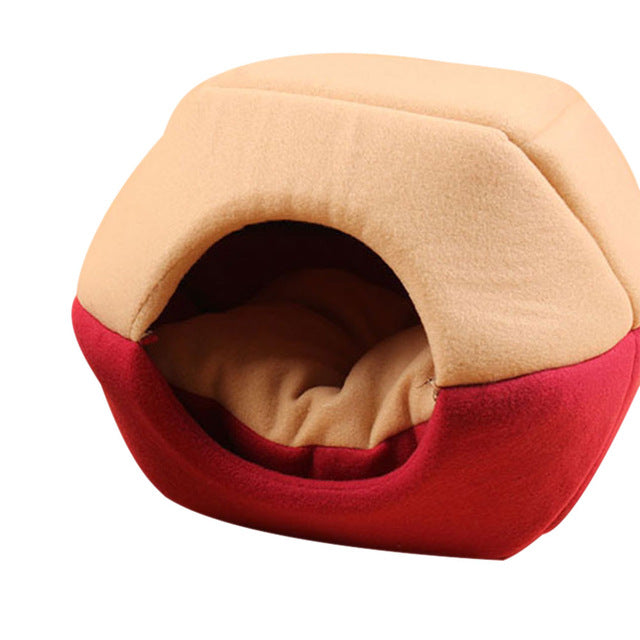 Foldable Soft Warm Winter Cat Bed-pawproducts.net-Red-S-pawproducts.net