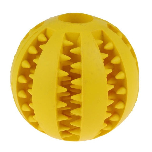 Dog Toy Interactive Rubber Balls-pawproducts.net-YELLOW-5 cm-pawproducts.net