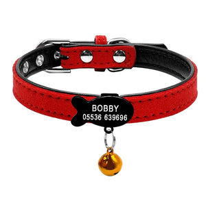 Cat Collar with Bell Personalized Safety-pawproducts.net-Black Fish 3-XXS-pawproducts.net