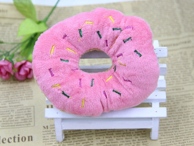 Pet Chew Cotton Donut-pawproducts.net-Pink-11-13cm-pawproducts.net