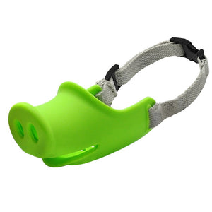 Breathable Cute Pig Dog Muzzle-pawproducts.net-Green-M-pawproducts.net