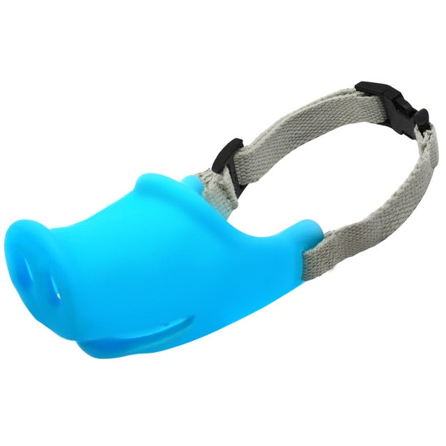 Breathable Cute Pig Dog Muzzle-pawproducts.net-Blue-M-pawproducts.net