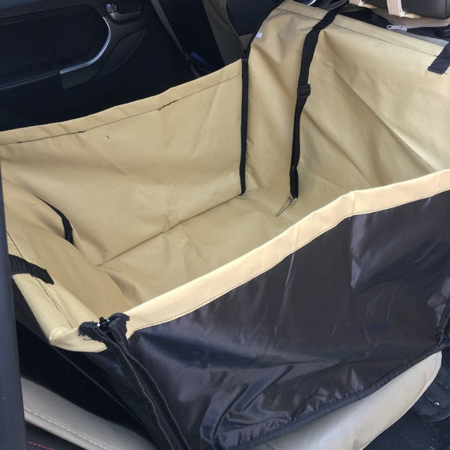 Dog Car Back Seat Carrier-pawproducts.net-Beige-Single Seat-pawproducts.net