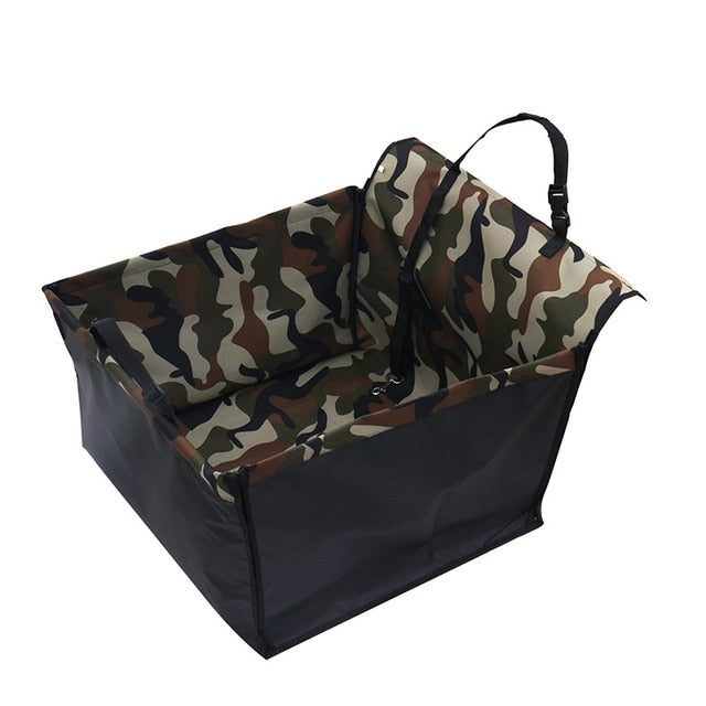 Dog Car Back Seat Carrier-pawproducts.net-Camouflage-Single Seat-pawproducts.net