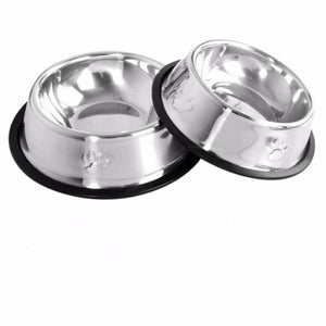Stainless Steel Travel Footprint Feeding Feeder-pawproducts.net-Style 2-15cm-pawproducts.net