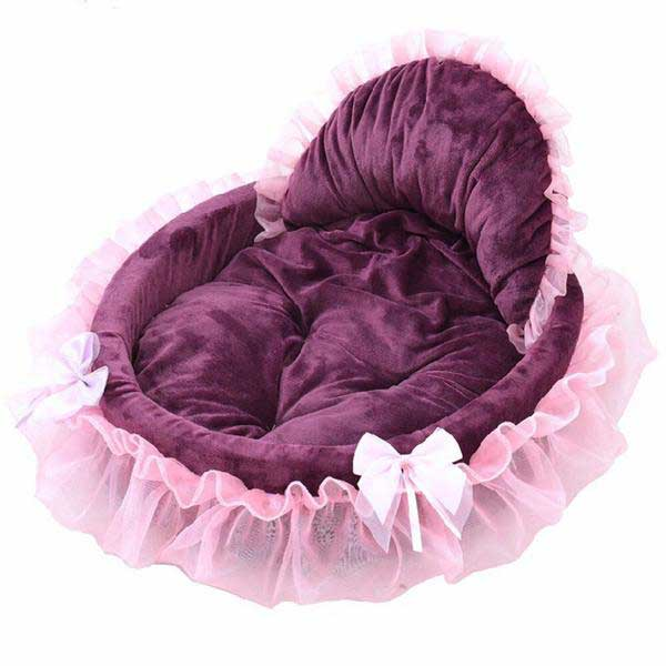 Transer Pet Dog Puppy Princess Bows-pawproducts.net-Pink-46x43cm-pawproducts.net