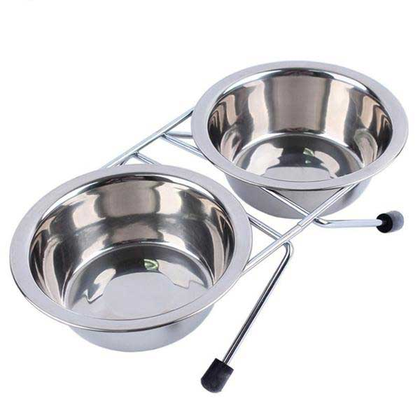 Dog Bowl Stainless Steel Pet Dog-pawproducts.net-Silver-S-pawproducts.net