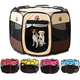 Portable Foldable Playpen Pet Dog Crate Room-pawproducts.net-Coffee-73x73x43cm-pawproducts.net