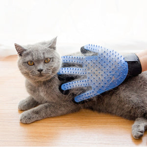 Cat Grooming Glove-pawproducts.net-blue-Free Size-pawproducts.net