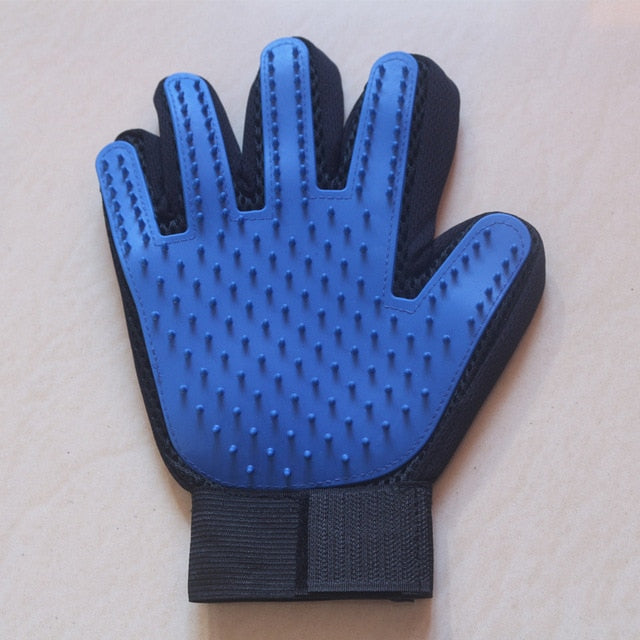 Cat Grooming Glove-pawproducts.net-right dark blue-Free Size-pawproducts.net