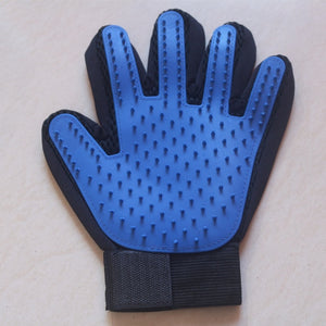 Cat Grooming Glove-pawproducts.net-left dark blue-Free Size-pawproducts.net