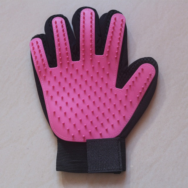 Cat Grooming Glove-pawproducts.net-right pink-Free Size-pawproducts.net
