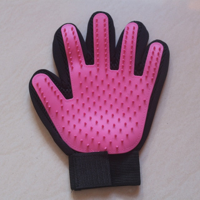 Cat Grooming Glove-pawproducts.net-left pink-Free Size-pawproducts.net