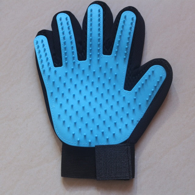 Cat Grooming Glove-pawproducts.net-right light blue-Free Size-pawproducts.net