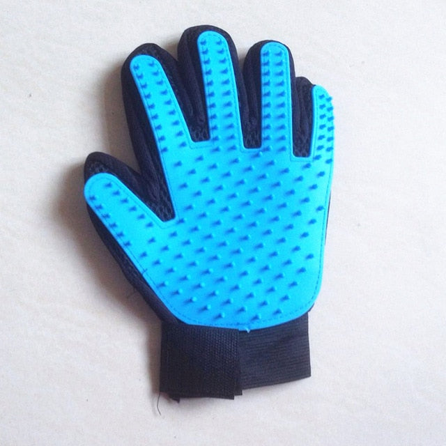 Cat Grooming Glove-pawproducts.net-left light blue-Free Size-pawproducts.net
