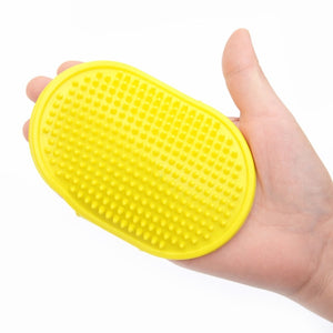 Cat Grooming Glove-pawproducts.net-yellow-Free Size-pawproducts.net