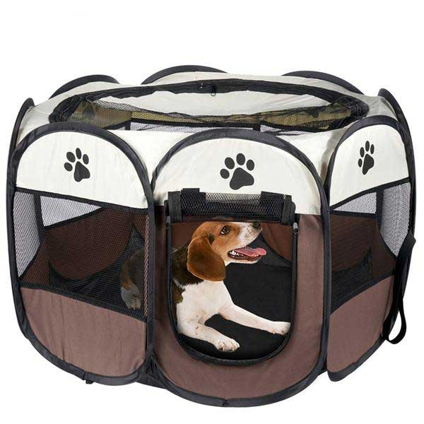 Pet Bed Dog House Cage-pawproducts.net-Blue-70x70x45cm-pawproducts.net