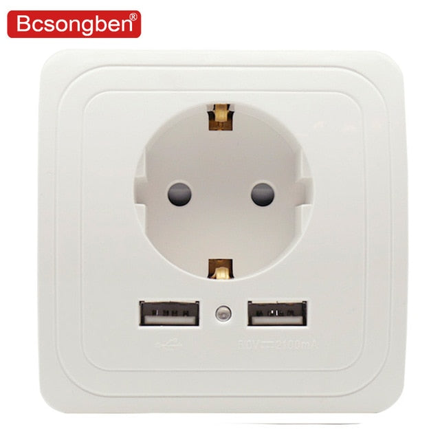 Dual USB Port Wall Charger