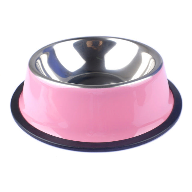 Stainless Steel Pets Dog Bowl-pawproducts.net-Pink-XS-pawproducts.net
