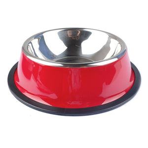 Stainless Steel Pets Dog Bowl-pawproducts.net-Red-XS-pawproducts.net
