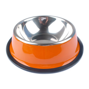 Stainless Steel Pets Dog Bowl-pawproducts.net-Orange-XS-pawproducts.net