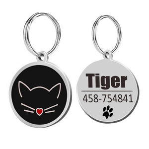Cat ID Tags Cat Collar-pawproducts.net-black-25x25cm-pawproducts.net