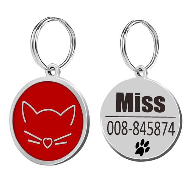 Cat ID Tags Cat Collar-pawproducts.net-red-25x25cm-pawproducts.net