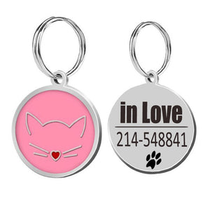 Cat ID Tags Cat Collar-pawproducts.net-pink-25x25cm-pawproducts.net