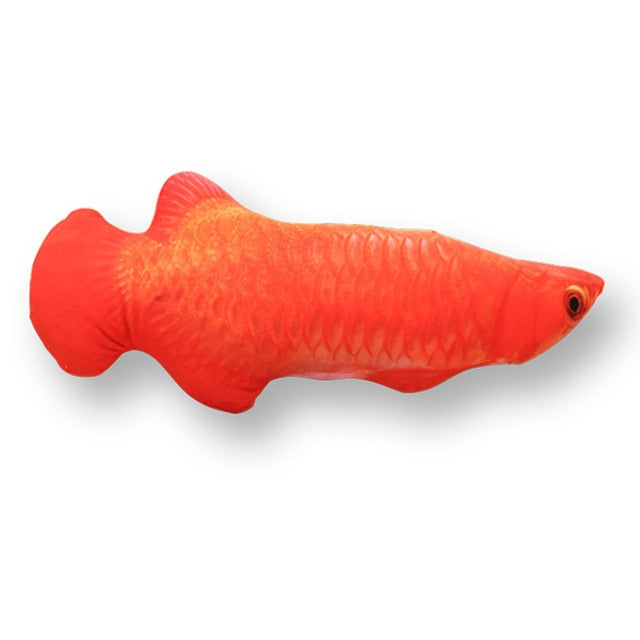 Pet Soft Plush Creative 3D Carp Fish Shape Cat Toy-pawproducts.net-red arowana-20cm-pawproducts.net