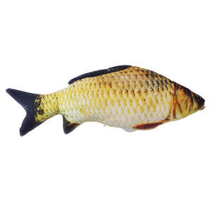 Pet Soft Plush Creative 3D Carp Fish Shape Cat Toy-pawproducts.net-crucian carp-20cm-pawproducts.net