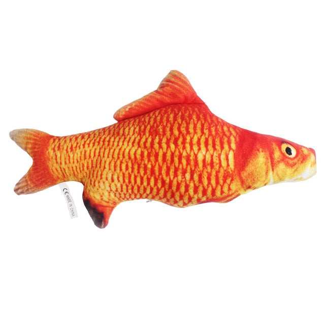 Pet Soft Plush Creative 3D Carp Fish Shape Cat Toy-pawproducts.net-carp-20cm-pawproducts.net
