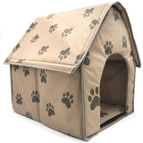 Foldable Paw Pattern Pet Dog House-pawproducts.net-pawproducts.net